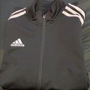 Adidas black zip up sweater